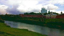 Вид на центральную часть с другого берега Днепра