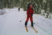 Бодрые лыжники в начале пути