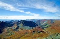 Вид с горы 2808 на верховья р. Кызыл-Ютук