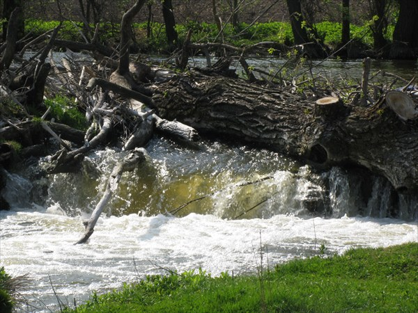 остатки старой плотины