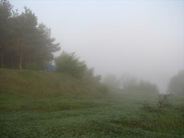 стоянка в тумане