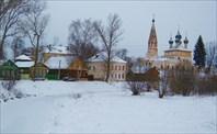Пейзаж города. Никольская церковь-музей