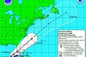 Карта движения урагана Вилма: Wilma-noaa-oct-22