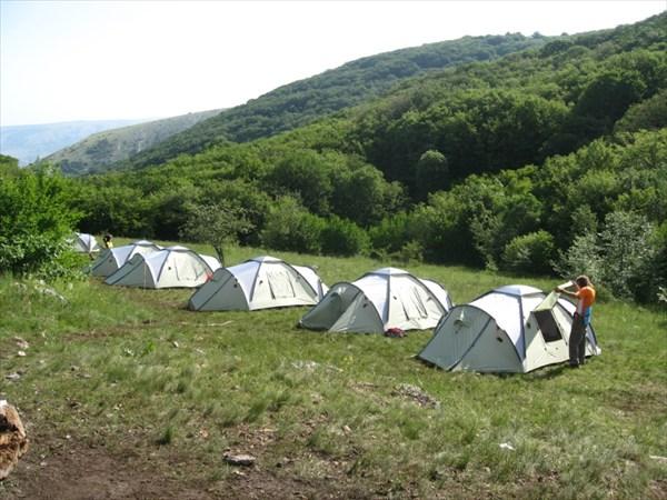 Наш палаточный городок...
