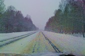 Трасса местами словно зимник