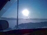 В Оренбургской областити горит газ, помогает солнцу