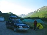 Наш лагерь после пешеходной прогулки