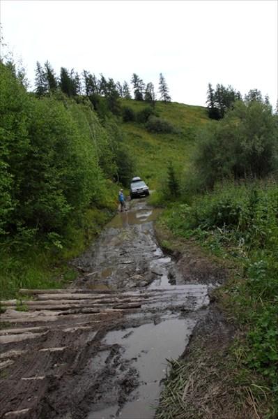 Австрийская дорога. Въезд на гать