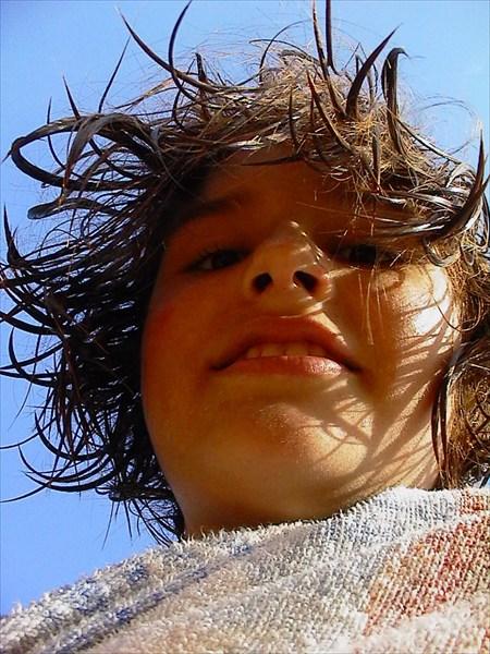 Креативная причёска у Даши