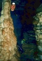 Вера Кузнецова в пещере Кабаний Провал