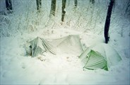 Палатку заваливает снегом за два часа