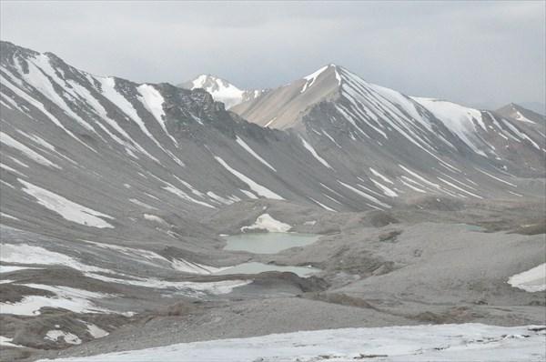 Вид с ледника под перевалом Коккельбель