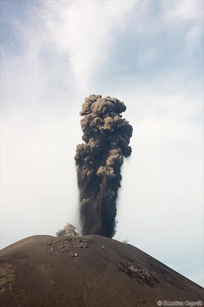 Извержение вулкана Анак Кракатау