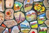 Стена художников в Усадьбе Арефьевых