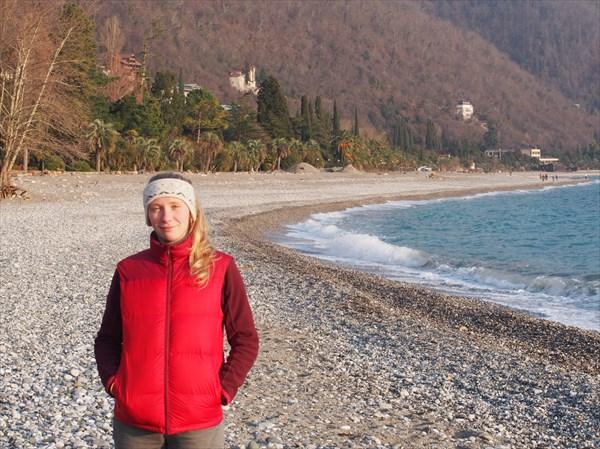 Старая Гагра, берег
