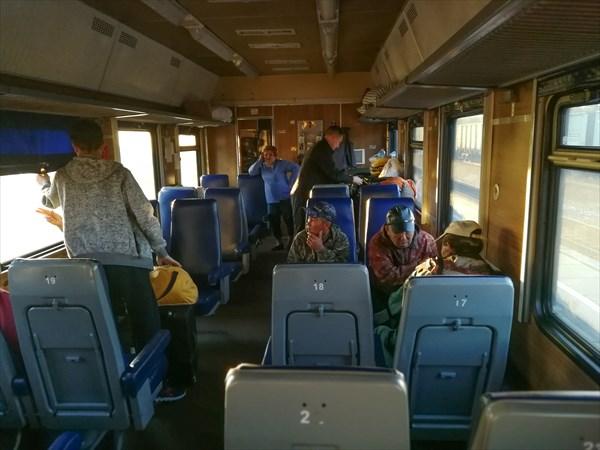 на фото: Поезд Аскиз-Абаза