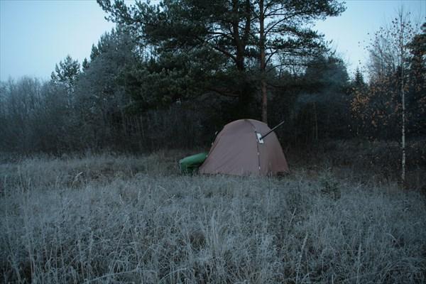 Моя палатка с печкой