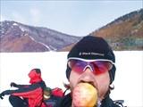 Печёные яблоки с омулем...