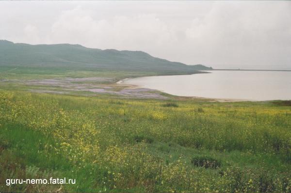 Кояшское озеро и гора Опук