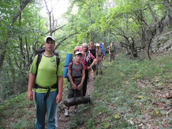 Спуск в каньен Бурульча