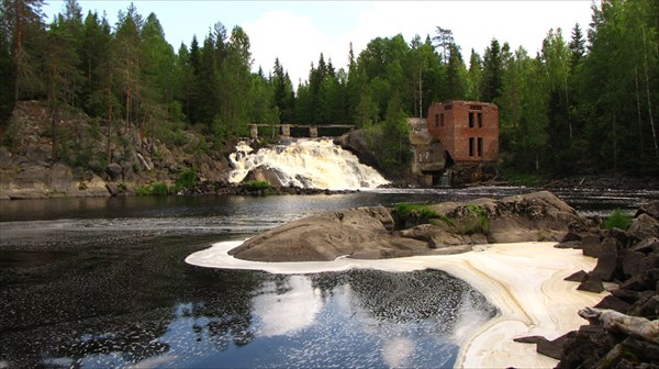 Старая заброшенная финская ГЭС