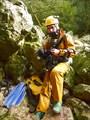 Витмантас тоже впервые ныряет в пещеры