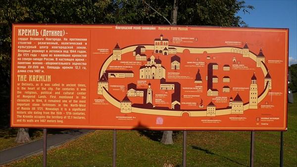 План Новгородского кремля