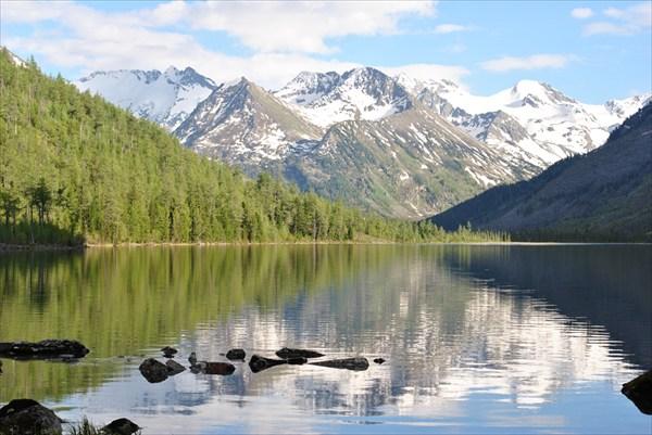 Кристально-вечерняя красота среднего озера