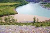 Слияние рек Чуя и Катунь.