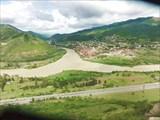 Слияние рек Арагви и Куры.
