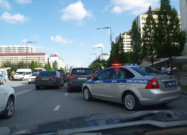 Дорожная пробка из-за аварии