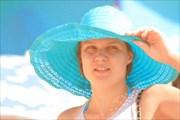 `Девушка в голубой шляпе`
