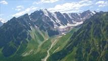 Вид на хребет Адыр-Су с перевала Суллукол