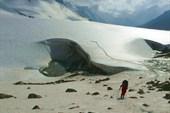 ледник в разрезе