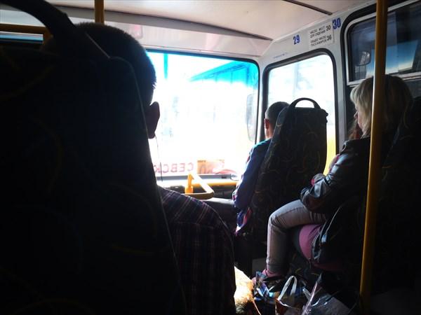 В автобусе Брянск - Севск.