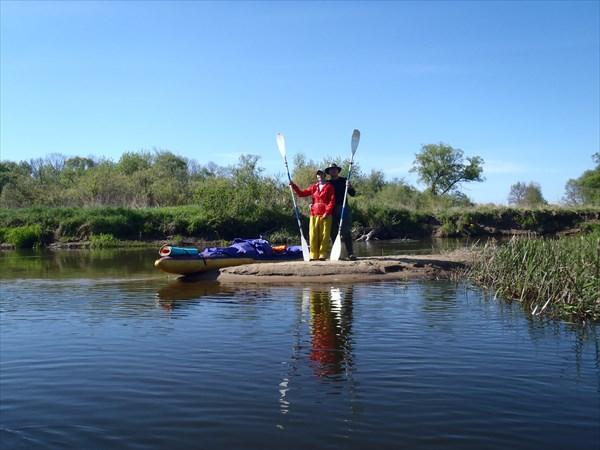 Мыс на стрелке рек Сев и Нерусса