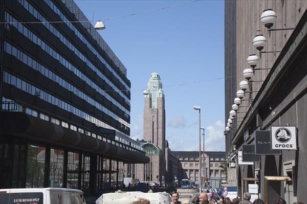 Хельсинки. Вид на центральный вокзал.