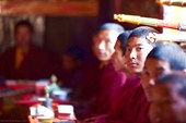 Пуджа в монастыре деревни Lho