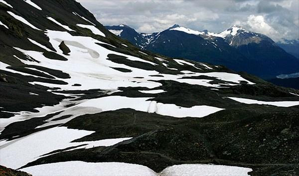 На подходе к Harding Ice field