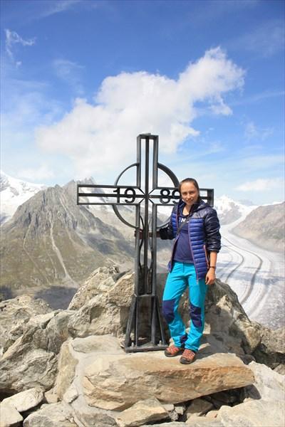 Eggishorn (2869 м). Доломиты. Ледник Алетч.