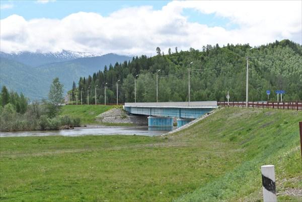 Новый мост в с. Верхний Уймон