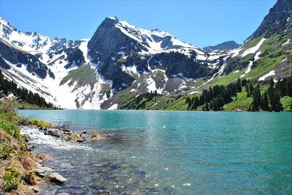 Верхнее озеро во всей красе (пометил для титула - детали дальше)
