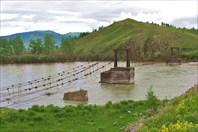 Вид на старый мост у п. Мульта