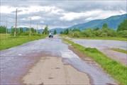 Затопление дороги в Усть-Коксу (с видом на долину)