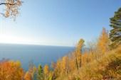 Вид Байкала с ближайшей к т/б горы