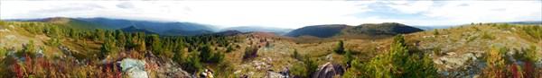 Панорама Айгулакского хребта на Айлагуше