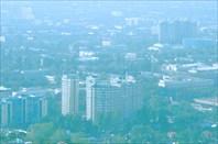 Фото 10. Алматы. Вид на городские кварталы из парка Кок-Тебе