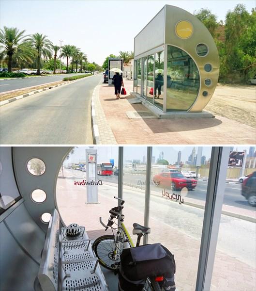 Автобусные остановки в Дубаи с кондиционерами