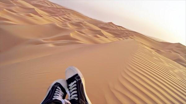 Наверху 200-метровой дюны