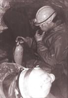 """Погружение в """"Кабаньем Провале"""".  (C) В. Милявский. 1992 г."""